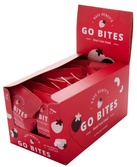 Kate Percy's GoBites Strawberry & Cashew x 12